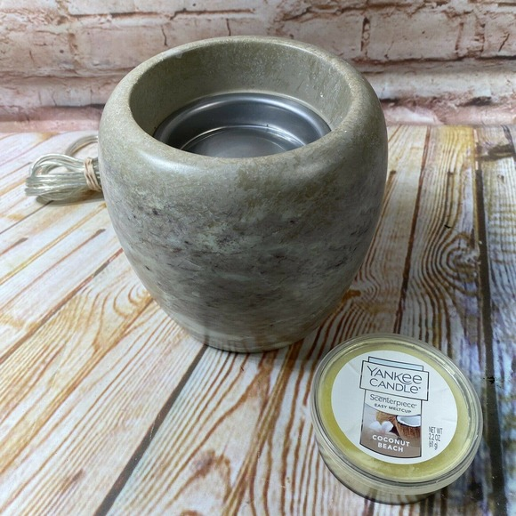 Yankee Candle Grey Scenterpiece Meltcup Wax Warmer